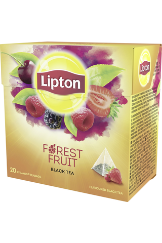 Lipton 20ps Forest Fruit pyramidi musta tee