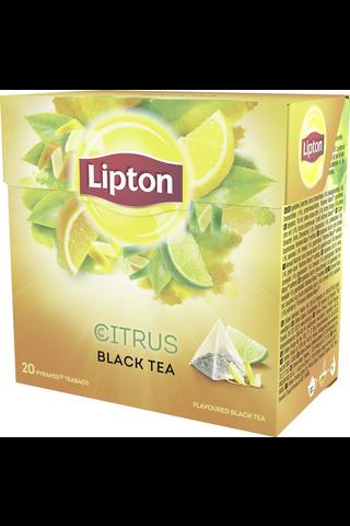 Lipton 20ps Citrus pyramidi musta tee