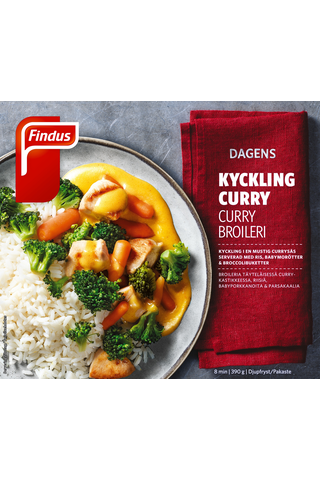 Findus Dagens Curry broilerinfilee 390g, pakaste