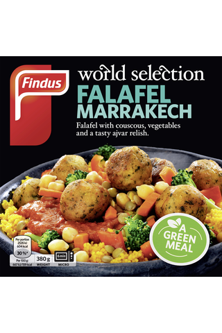 FindusWorld Selection Falafel Marrakech 380g, pakaste