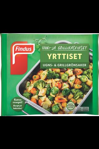 Findus Uuni- & grillikasvikset Yrttiset 500g, pakaste