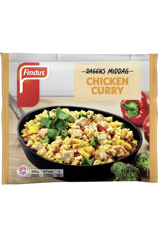Findus Dagens Middag Chicken Curry 600g, pakaste
