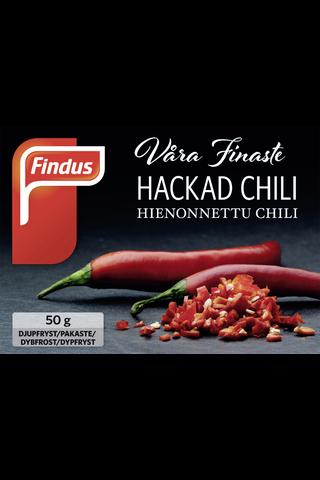 Findus Våra Finaste Hienonnettu Chili 50g, pakaste