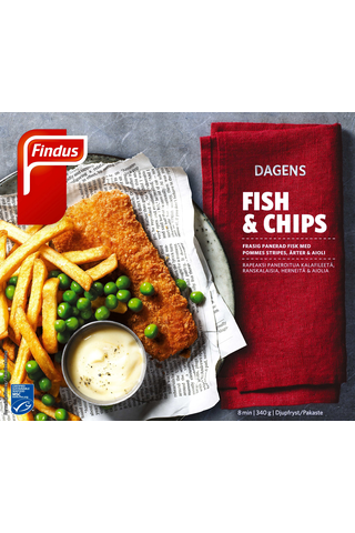 Findus 340g Dagens – Fish & Chips MSC