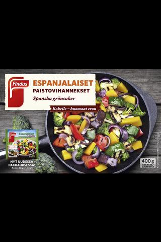 Findus Espanjalaiset paistovihannekset 400g, pakaste