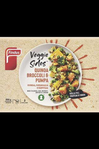 Findus Veggie Sides Kvinoaa, parsakaalia & kurpitsaa 350g, pakaste