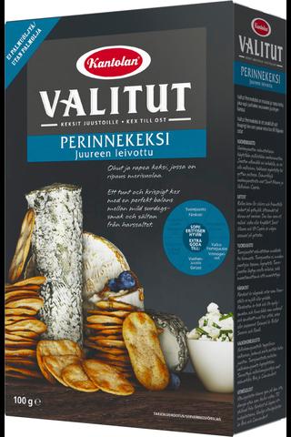 Kantolan Valitut Perinnekeksi juureen leivottu suolakeksi  100g