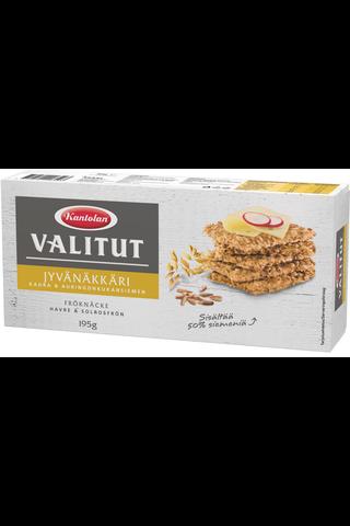 Kantolan Valitut Jyvänäkkäri kaura auringonkukansiemen näkkileipä 195g