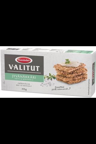 Kantolan Valitut Jyvänäkkäri yrtti merisuola näkkileipä 195g