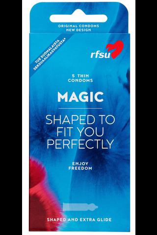 Magic 5kpl kondomi joka puristaa parhaasta paikasta