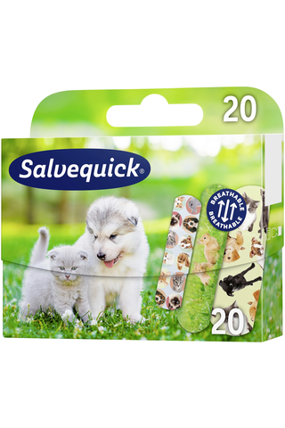Salvequick Animal Planet lastenlaastari 20kpl