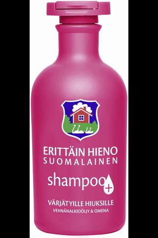 Erittäin Hieno Suomalainen 300ml Plus värjätyille ja käsitellyille hiuksille shampoo