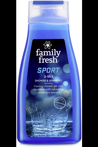 Family Fresh 500ml Sport shower & shampoo suihkusaippua
