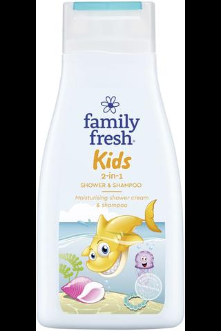 Family Fresh 500ml suihkusaippua Kids 2-in-1 Shower & Shampoo