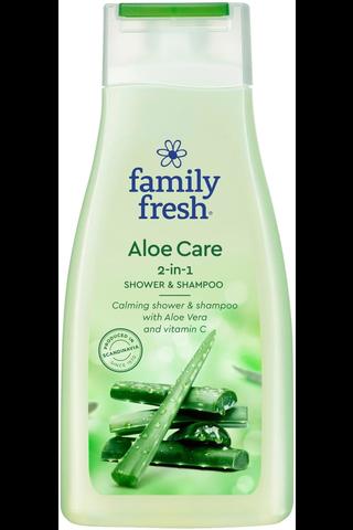 Family Fresh 500ml Aloe Care shower & shampoo suihkusaippua
