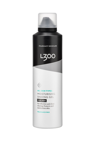 L300 for men Moisturising Shaving Gel fragrance free hajusteeton kosteuttava ja suojaava partageeli 200ml