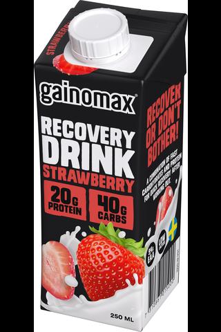 Gainomax Recovery 250ml mansikanmakuinen palautusjuoma