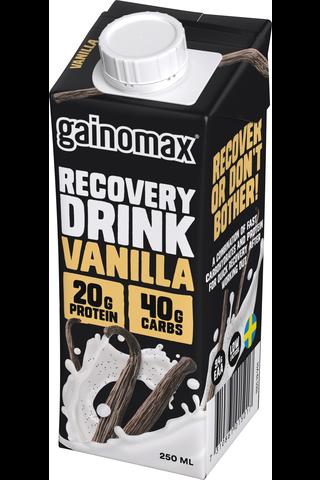 Gainomax Recovery 250ml vanilja, Vaniljanmakuinen palautusjuoma
