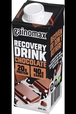 Gainomax Recovery 250ml Suklaanmakuinen palautusjuoma