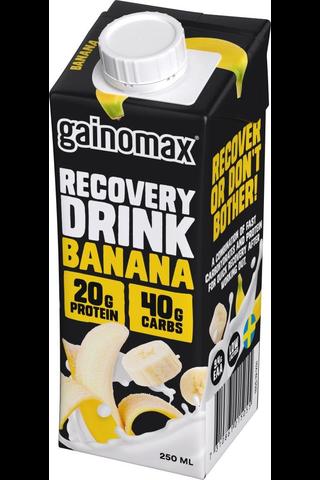 Gainomax Recovery 250ml Banaani, Banaaninmakuinen palautusjuoma