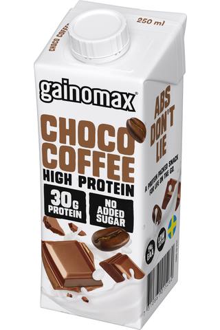 Gainomax High Protein Drink Choco Coffee 250 ml, Suklaa-kahvinmakuinen proteiinijuoma