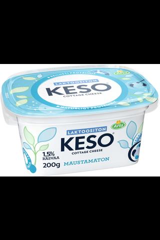 Arla Keso 1,5% laktoositon maustamaton raejuusto 200 g
