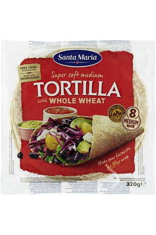 Santa Maria 320G Whole Wheat Tortilla