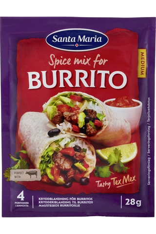 Santa Maria 28g Tex Mex Burrito Spice Mix -mausteseos