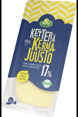 Arla Ketterä 150g kermajuusto 17% viipale