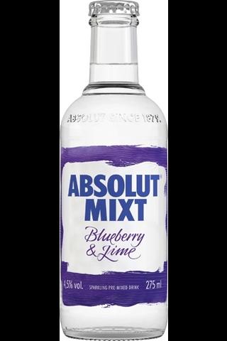 Absolut Mixt Mustikka & Lime juomasekoitus 27,5 cl 4,5%