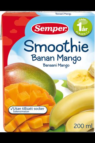 Semper 200ml Smoothie banaani mango alkaen 1v
