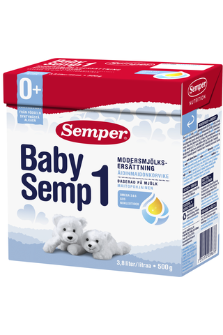 Semper BabySemp1 500g Maitopohjainen äidinmaidonkorvike syntymästä alkaen, jauhe