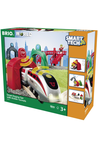 BRIO Smart Tech -setti juna ja tunnelit