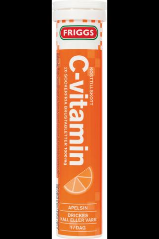 Friggs 1000mg C-vitamiini appelsiini poretabletti 20kpl