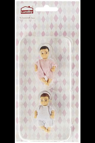 Lundby kaksi vauvaa nukkekotiin