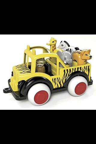 Vikingtoys Jumbo Safari jeeppi + 4 eläintä lelu