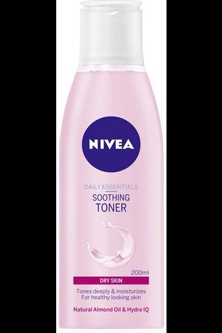 NIVEA 200ml Daily Essentials Soothing Toner kasvovesi kuivalle iholle