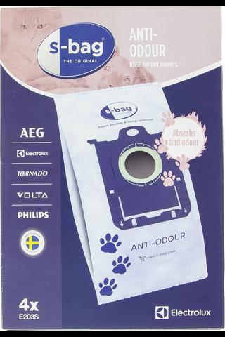 Electrolux s-bag pölypussi E203S 4kpl Anti-Odour