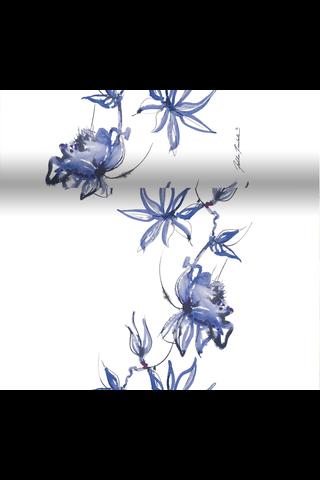 Duni Dunicel Jukka Rintala perforoitu poikkiliina Blue Velvet 40x480cm
