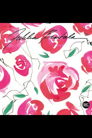Duni Jukka Rintala 20kpl 24cm Love of Roses lautasliina