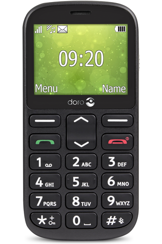 Doro 1362 matkapuhelin  musta