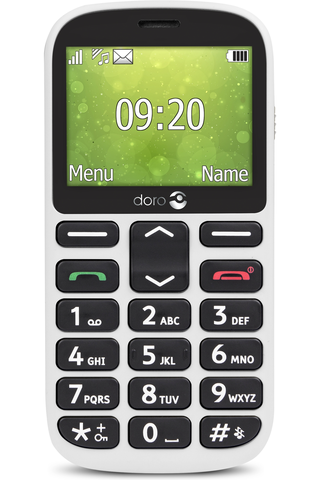 Doro 1362 puhelin valkoinen