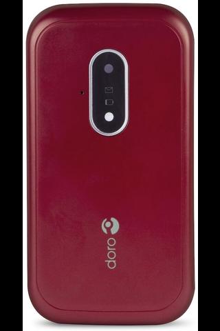 Doro simpukkapuhelin 7031 punavalkoinen