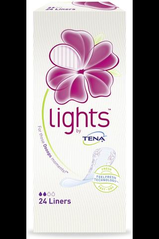 Lights by Tena Liner Inkontinenssi pikkuhousunsuoja 24 kpl