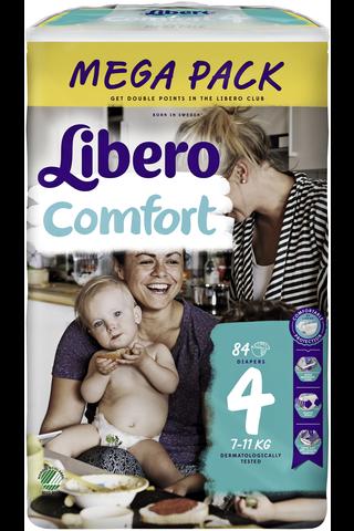 Libero Comfort 84 kpl koko 4 Mega 7-14kg Teippivaippa