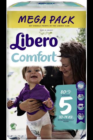 Libero Comfort 80kpl koko 5 Mega 10-16kg Teippivaippa