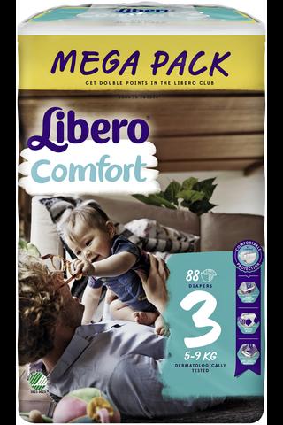 Libero Baby Soft 88kpl koko 3 Mega 5-8kg Teippivaippa