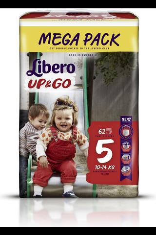Libero Up&Go housuvaippa 10-14kg, koko 5, 62kpl