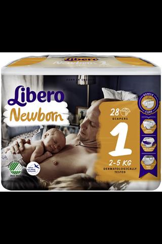 Libero Newborn 28kpl koko 1, 2-5kg Teippivaippa