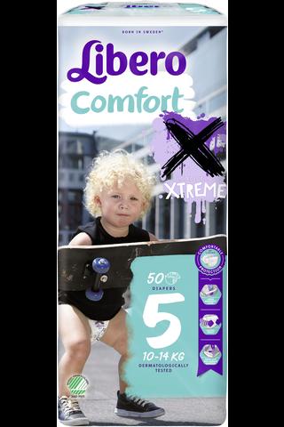 Libero Comfort Xtreme teippivaippa 10-14kg, koko 5, 50kpl